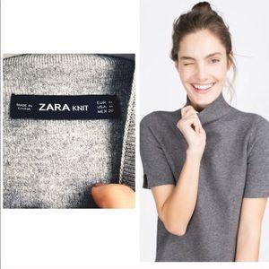 Zara Knit Mock Neck Sweater
